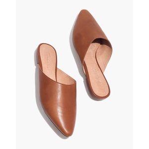 Madewell Remi Congac Brown Leather Mule Flat